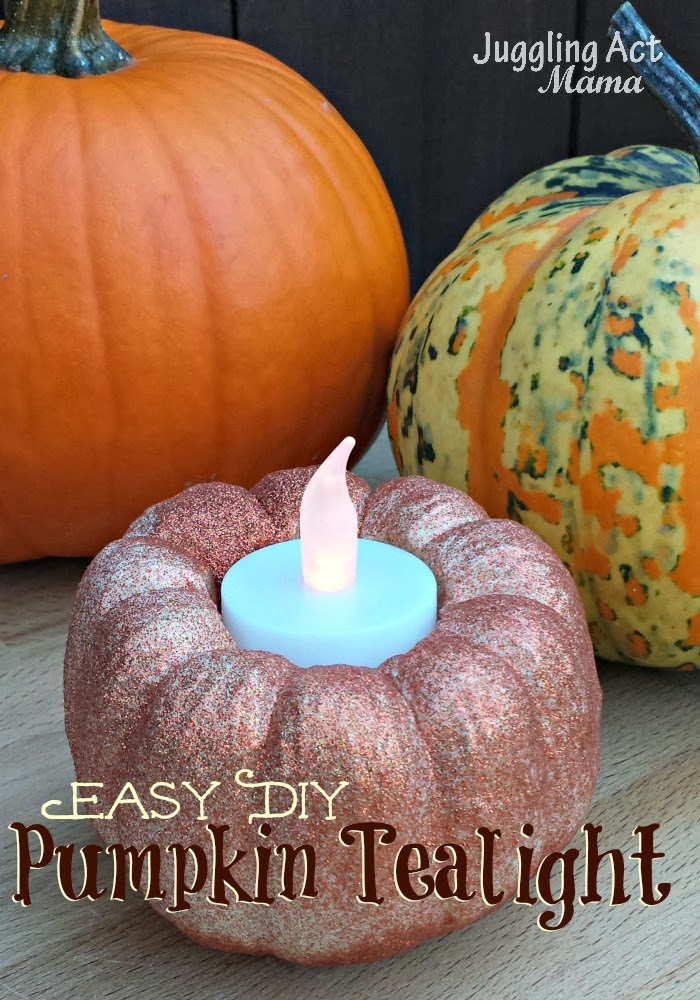 Easy DIY Pumpkin Tealights2