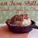 Cast Iron Skillet Baked Apple via Juggling Act Mama, a Miss Information Blog contributor #apple #fall #castironskillet #jugglingactmama #missinformationblog