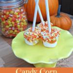 Pumpkin Dipped Marshmallow Pops via Juggling Act Mama