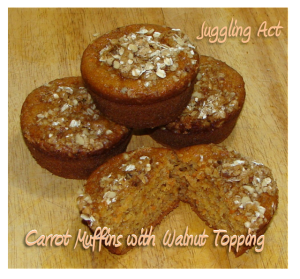 Carrot Muffins with Walnut Topping