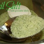 Basil Salt with Printable Label