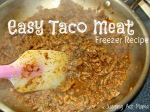 Easy Taco Meat (Freezer Recipe)