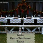 Guest Post: Painted Chevron Table Runner Tutorial