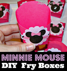 Minnie Mouse DIY Fry Boxes