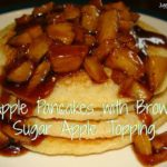 Apple Pancakes with Brown Sugar Apple Topping