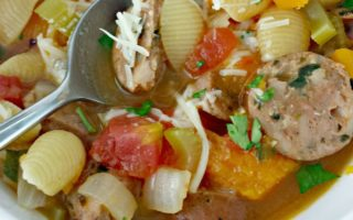 Italian-Style Chicken Sausage Soup via Juggling Act Mama