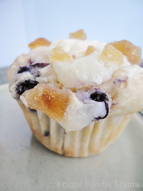 Blueberry Lemon Cream Cheese Muffins from Frugal Foodie Mama