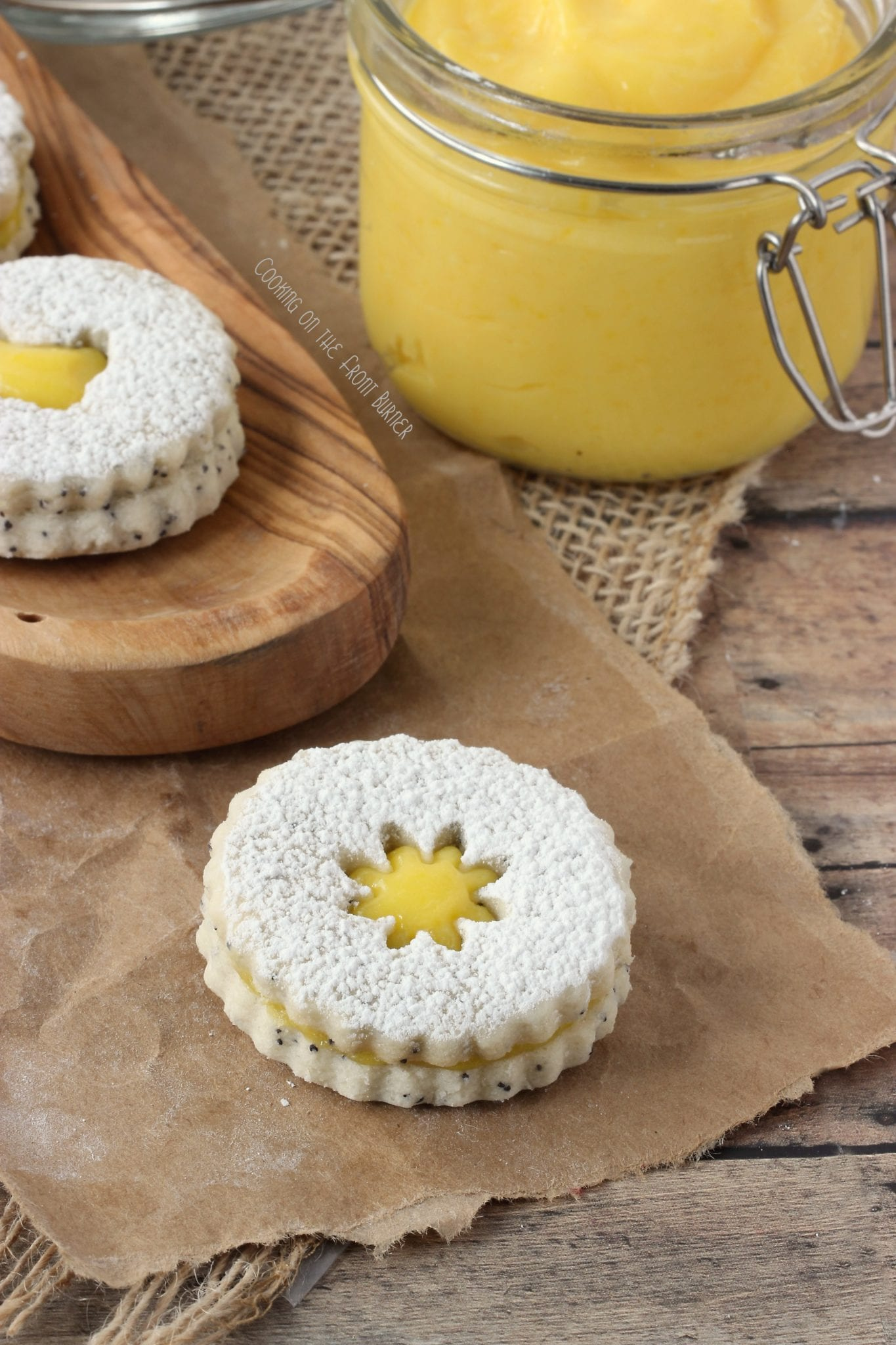 Poppy Seed Lemon Linzer Cookies - Juggling Act Mama