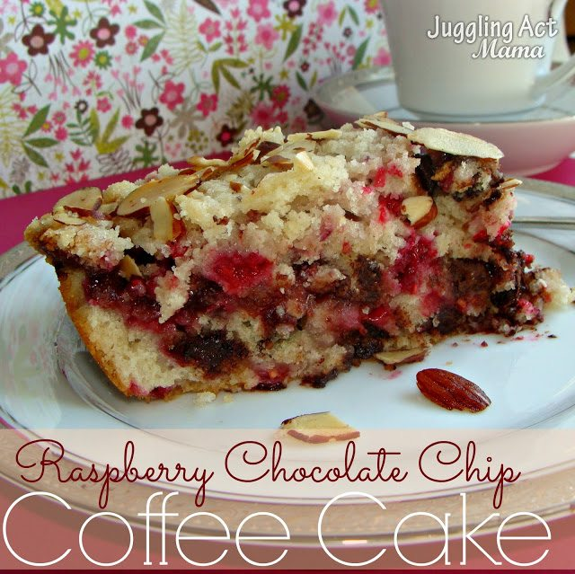 Rapsberry Chocolate Chip Coffee Cake from Juggling Act Mama