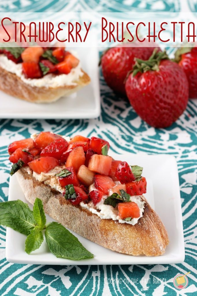 Strawberry Bruschetta from Cooking on the Front Burner