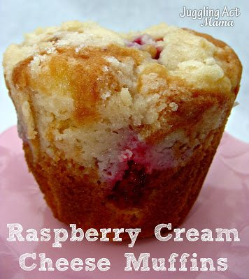 Raspberry Cream Cheese Muffins from Juggling Act Mama