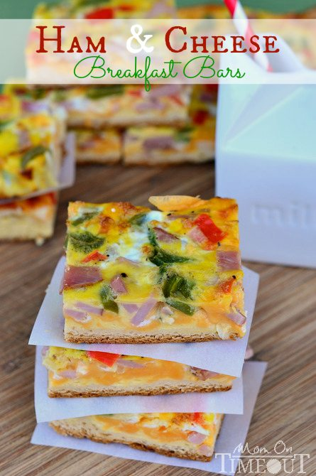 Ham and Cheese Breakfast Bars from Mom on Time Out