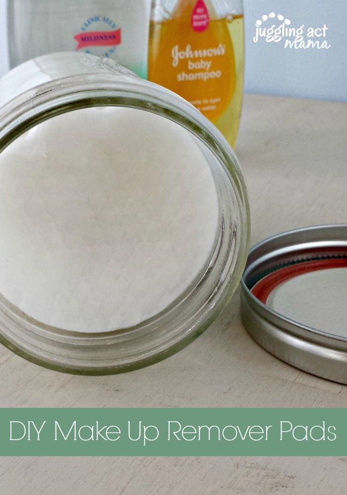 Easy and cheap DIY Make Up Remover Pads via Juddling Act Mama