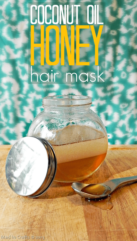 Homemade Coconut Oil and Honey Hair via Mad in Crafts