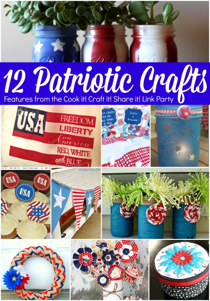 12 Patriotic Crafts from Cook it Craft it Share it!