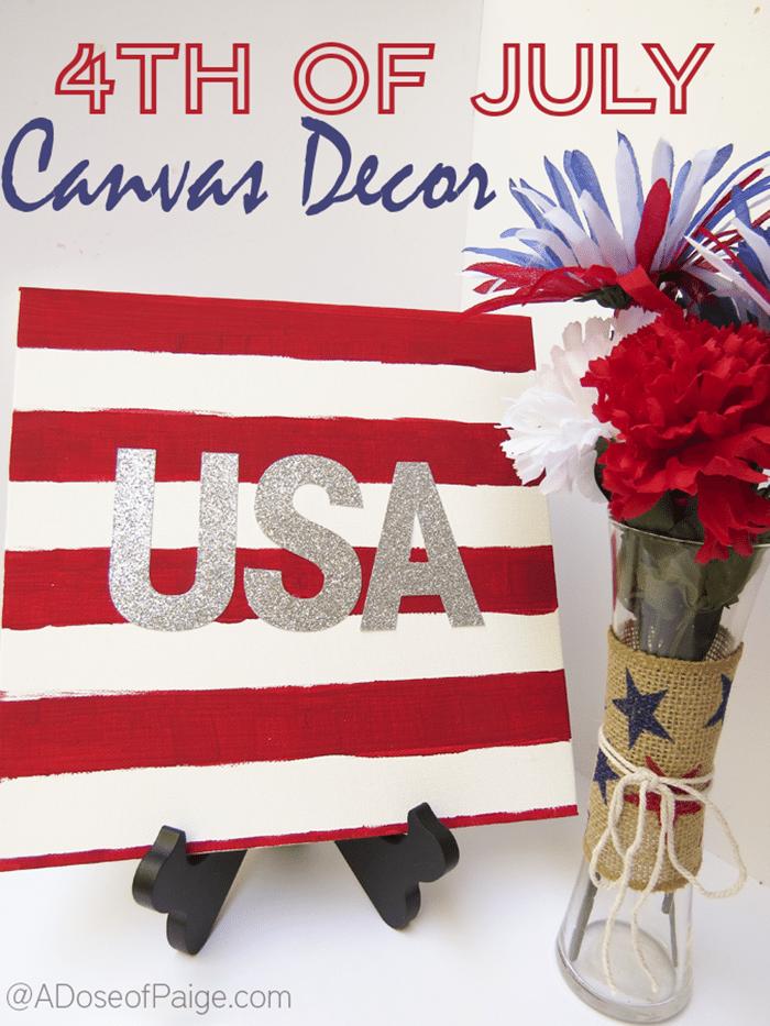 Easy DIY USA Canvas