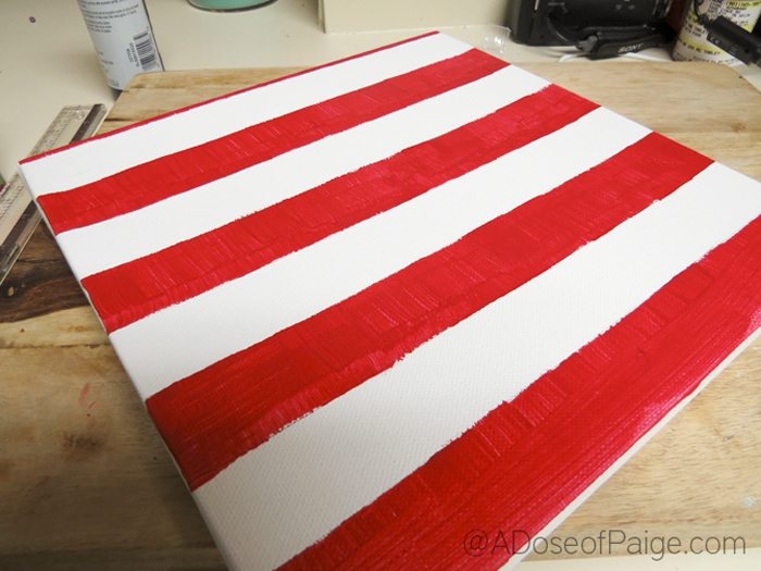 Red Painted stripes