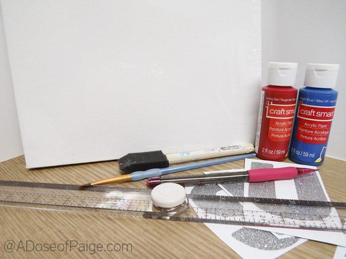 Supplies for DIY USA canvas