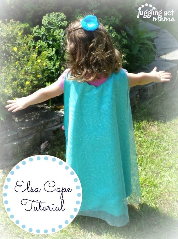 Does your little one love FROZEN? Check out this easy Elsa Cape Tutorial via View From the Fridge as seen on Juggling Act Mama