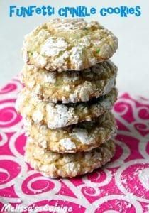 Funfetti Crinkle Cookies