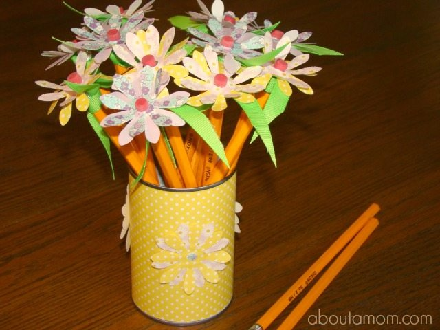 Pencil Flowers - About a Mom