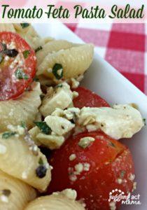 Tomato Feta Pasta Salad at Lady Behind the Curtain