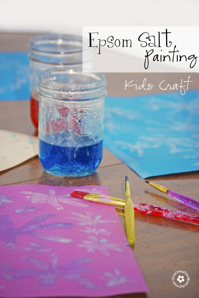 Wow your kids with Epsom Salt Painting! {They'll love the crystals that form as the paint dries.} width=