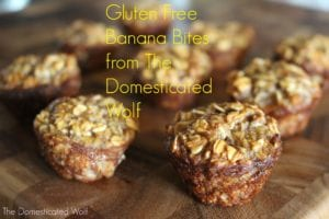 Easy and Homemade Snack or Dessert: Gluten Free Banana Bites