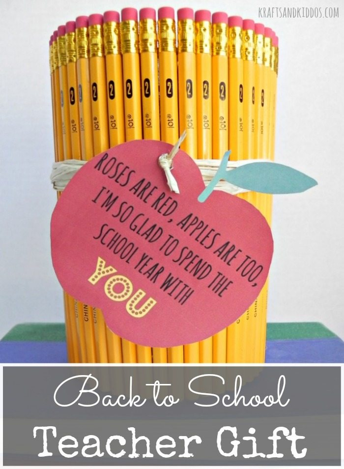 Back to School Teacher Gift from Krafts and Kiddos