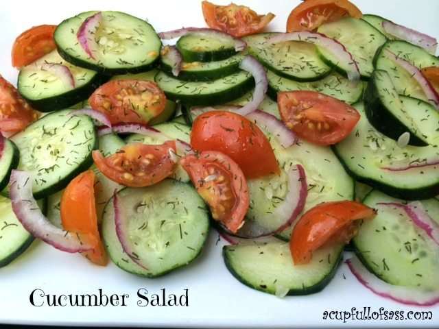 Cucumber Salad from A Cup Full of Sass