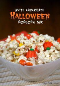 White Chocolate Halloween Popcorn Mix