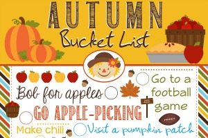 Autumn Bucket List Printable