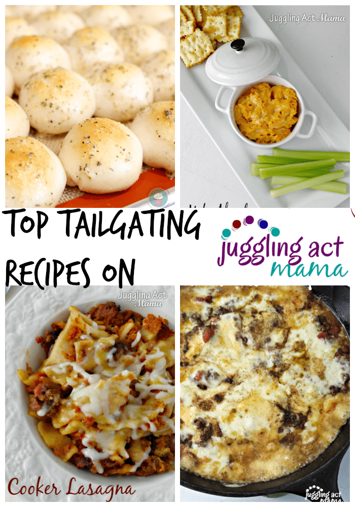 Top Tailgating Recipes on Juggling Act Mama + a few from friends!