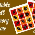 Fall Memory Game Printable