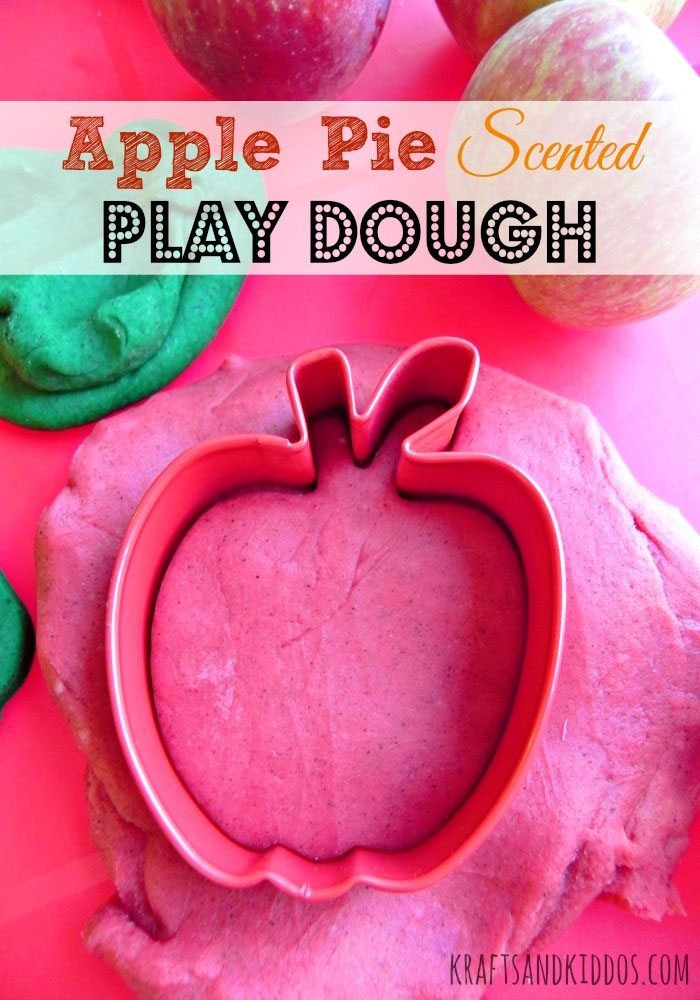 Apple Pie Scented Play Dough from Krafts and Kiddos on Juggling Act Mama