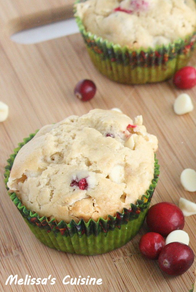 White Chocolate Cranberry Muffins - Juggling Act Mama