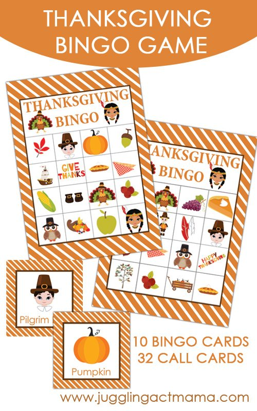 Printable Thanksgiving BINGO Set