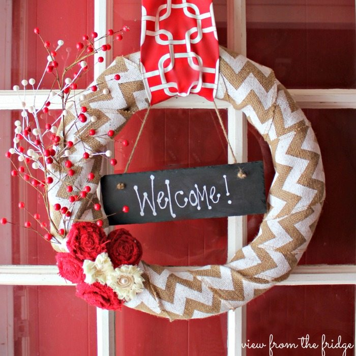 EASY DIY Holiday Wreath |  View From The Fridge via Juggling Act Mama
