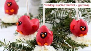 Holiday CakePop Tutorial + Giveaway