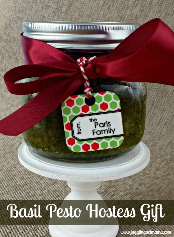 Hostess Gift - Basil Pesto from Juggling Act Mama