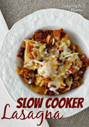 Slow Cooker Lasagna via Juggling Act Mama