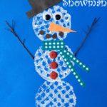 Simple Waffle Snowman