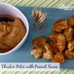 Chicken Bites with Peanut Sauce