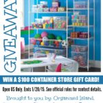 New Years Container Store Giveaway #getorganized