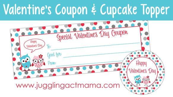 Pink Velvet Cupcakes + Valentine's Day Printables