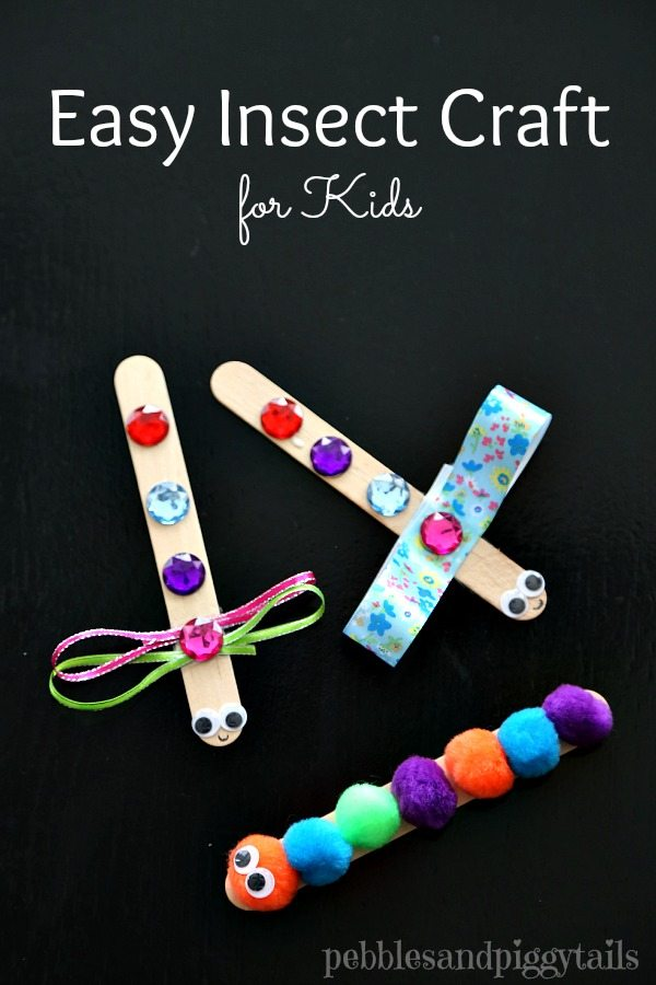 Dragonfly and Caterpillar Craft
