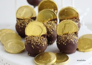 Gold Doubloons Cake Pops