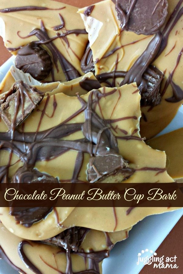 Homemade Peanut Butter Cup Chocolate Bark
