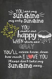 You Are My Sunshine Chalkboard Printable - Juggling Act Mama