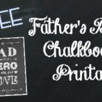 Father's Day Chalkboard Printable